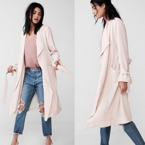 Express Pink Soft Drape Trench Coat